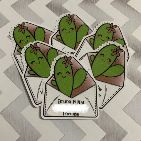 Cute Cactus Address Labels