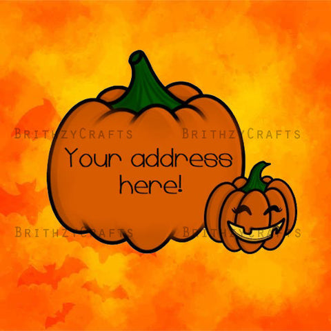 Halloween pumpkins Address Labels