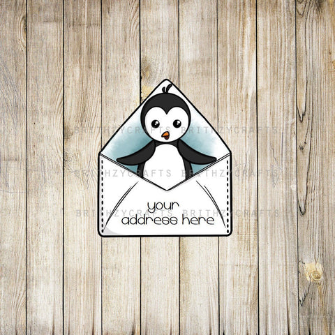 Winter penguin Address Labels
