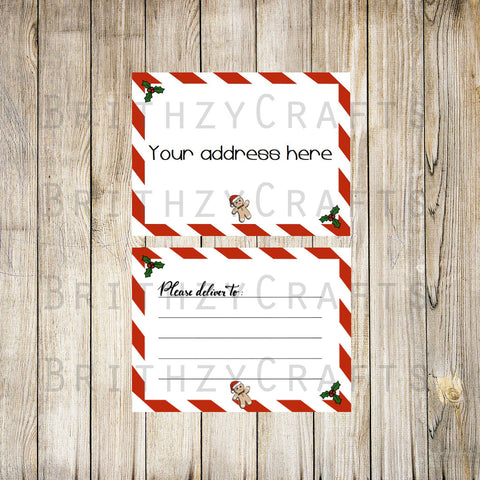 Christmas Letter Address / Please deliver to Labels