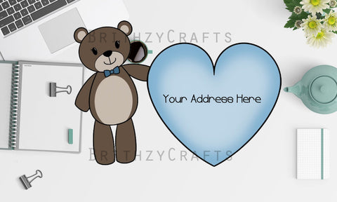 Bear with heart Address Labels