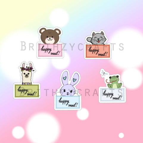 Happy mail stickers - Set of 25