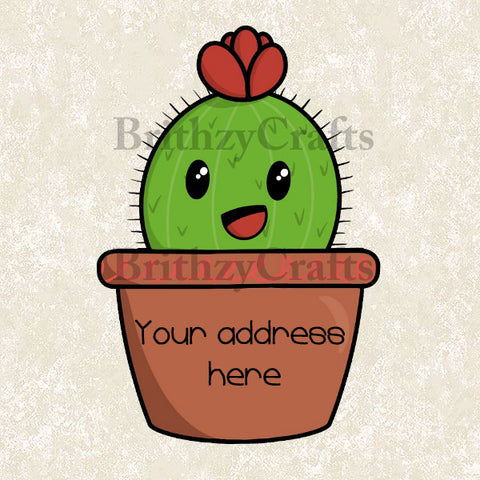 Cactus in a vase Address Labels
