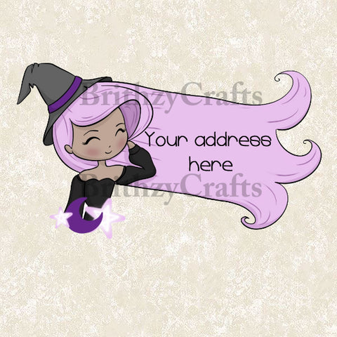 Pastel Witch Address Labels
