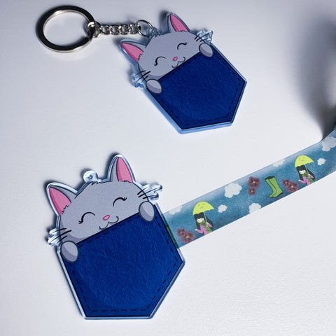 Oops quality - Kitty in a pocket washi cutter