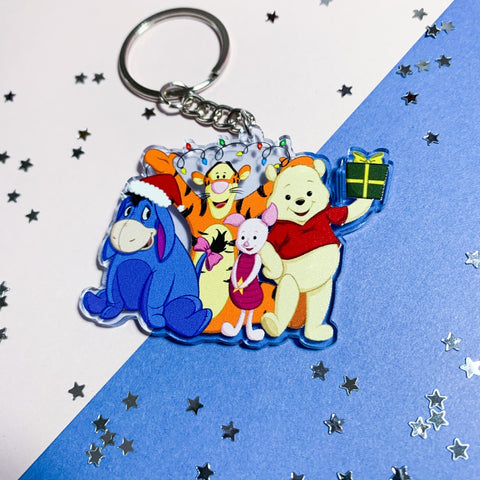 Oops quality Christmas Friends Keychain
