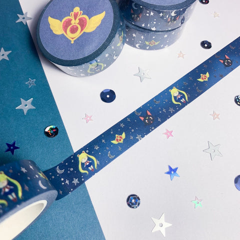Sailor Moon Washi Tape - Silver Foiled
