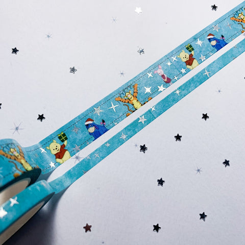 Christmas Friends - Silver Foiled Washi Tape Set