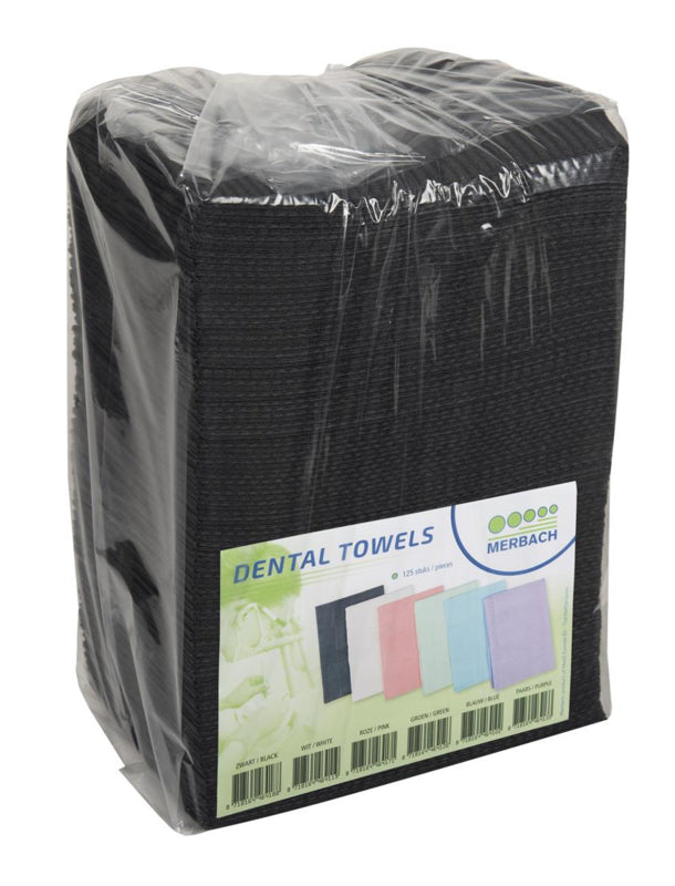 Table Towels Black 125 stuks