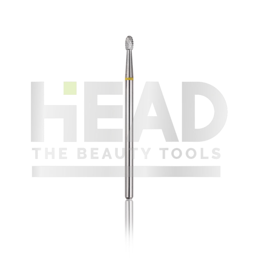 Tungsten Bit - Rounded Drop - Yellow 2,3mm (Pedicure en Manicure)