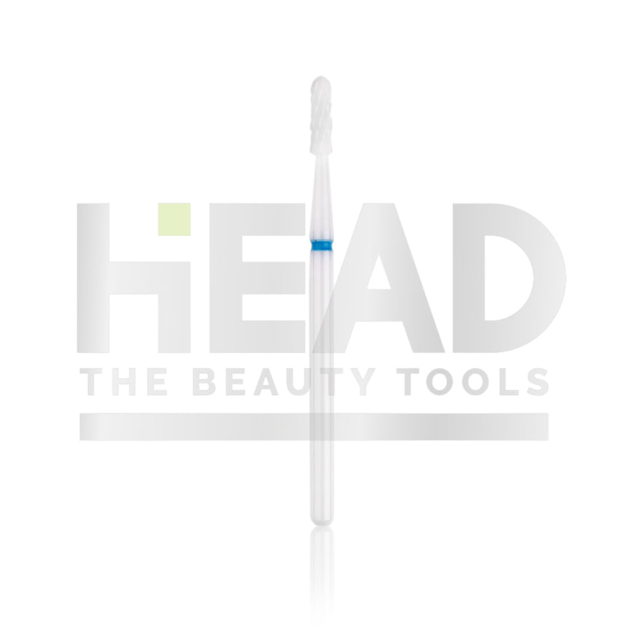 Ceramic Bit - Rounded Cylinder - Blue 2,3mm (Pedicure en Manicure)