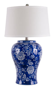 Trellis Table Lamp hand painted with shade