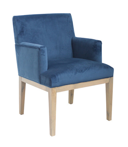 Brook Armed Royal Blue Dining Chair