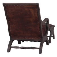 Mahogany Lazy Chair and Foot Stool