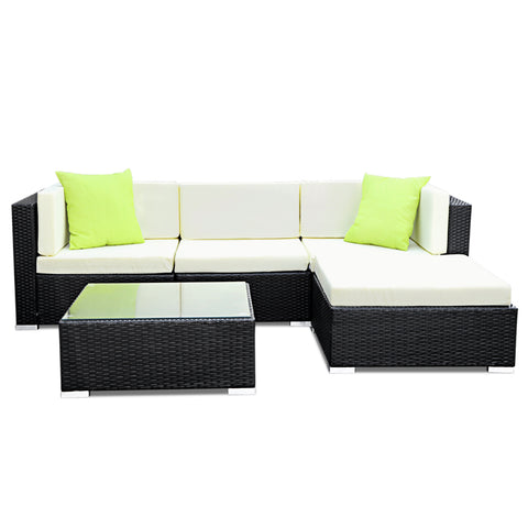 5pc Outdoor Wicker Sofa Set