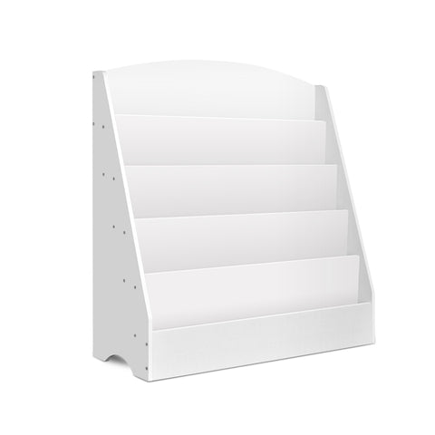 5 Tier Kids Bookshelf - White