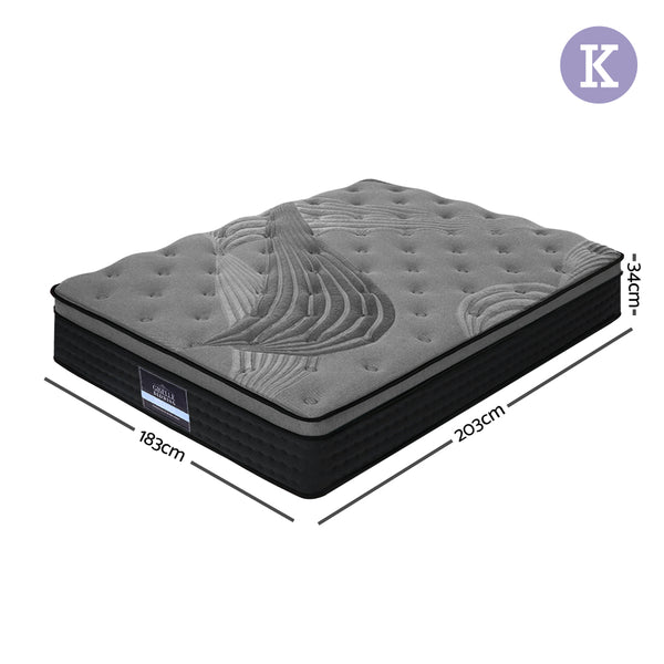 King Spring Foam Mattress Top - 34cm
