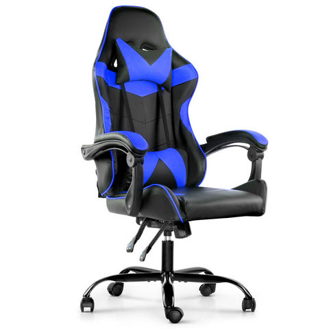 Racer Gaming Chair Recliner - Black & Blue