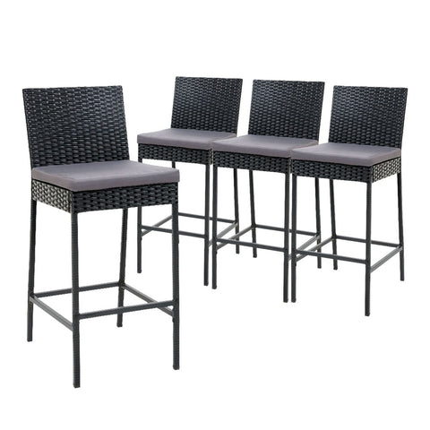 Gardeon 4 Outdoor Rattan Bar Stools