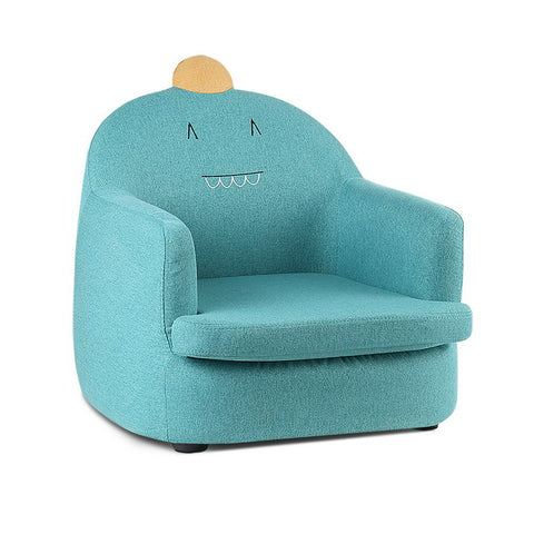 Kids Fabric Dinosaur Armchair - Green