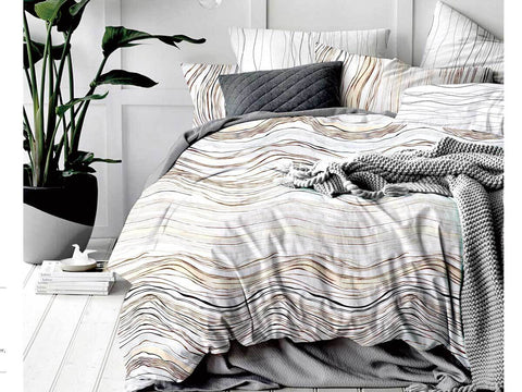 King Size Modern Curve Quilt Cover Set