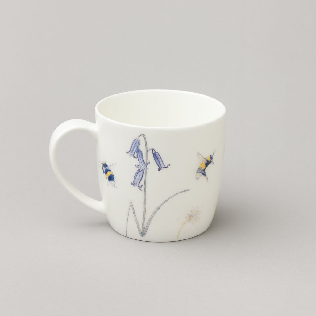 bee mug, wildflower mug