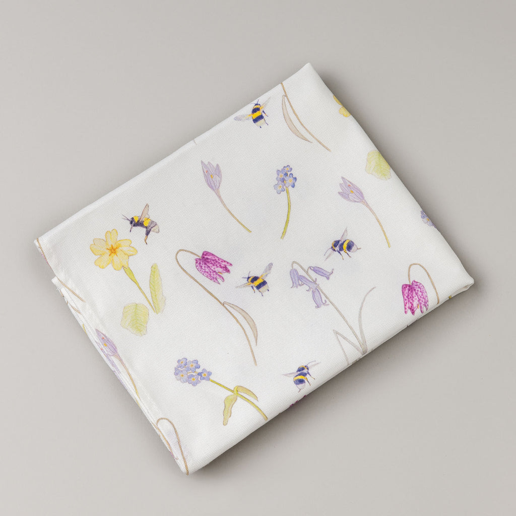 bee tea towel, wildflower tea towel