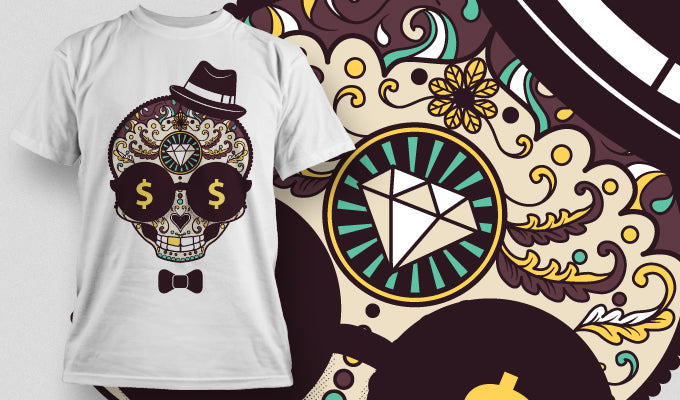 DIAMOND SKULL - T-SHIRT