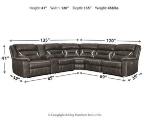 Kincord 4Piece Power Reclining Sectional 13104S4