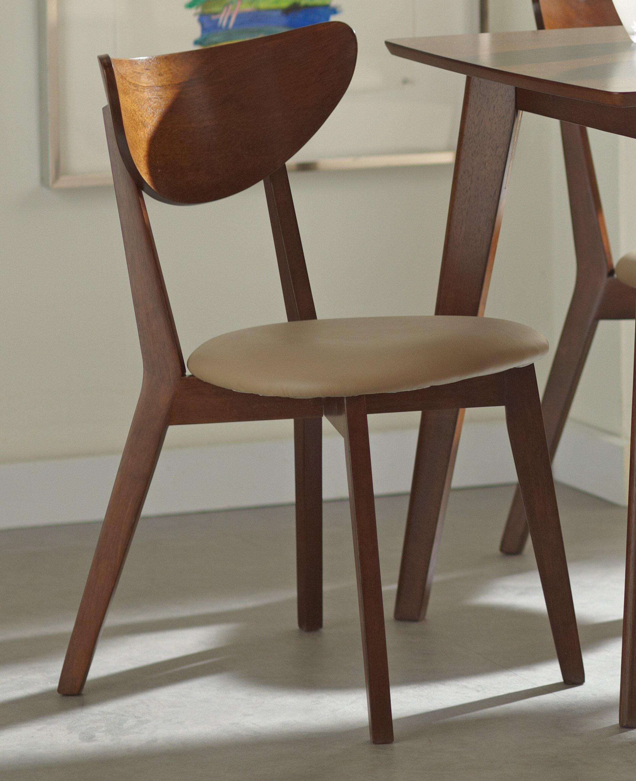 Kersey 103062 Tan pu Dining Chair1 By coaster - sofafair.com