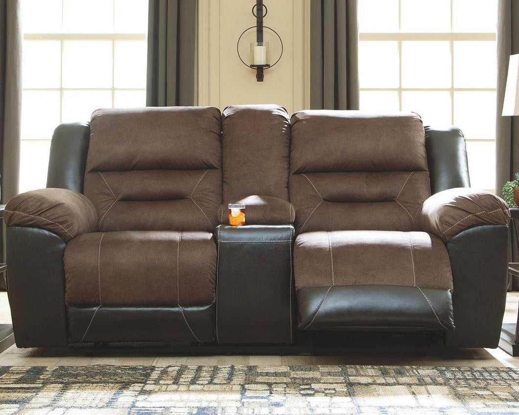 Earhart Reclining Loveseat with Console 2910194 By Ashley Furniture from sofafair