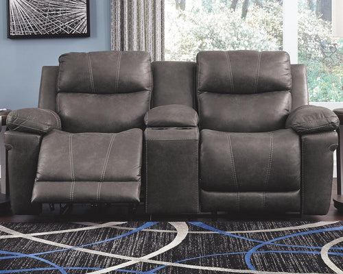 Erlangen Power Reclining Loveseat with Console 3000418 By Ashley Furniture from sofafair
