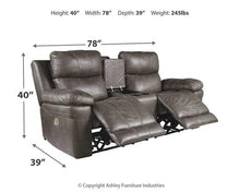 Load image into Gallery viewer, Erlangen Power Reclining Loveseat with Console 3000418