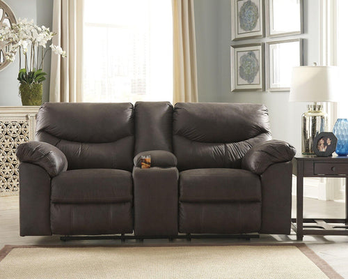 Boxberg Reclining Loveseat with Console 3380394 By Ashley Furniture from sofafair