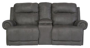 Austere Power Reclining Loveseat with Console 3840196