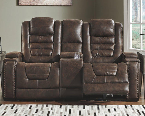 Game Zone Power Reclining Loveseat with Console 3850118 By Ashley Furniture from sofafair