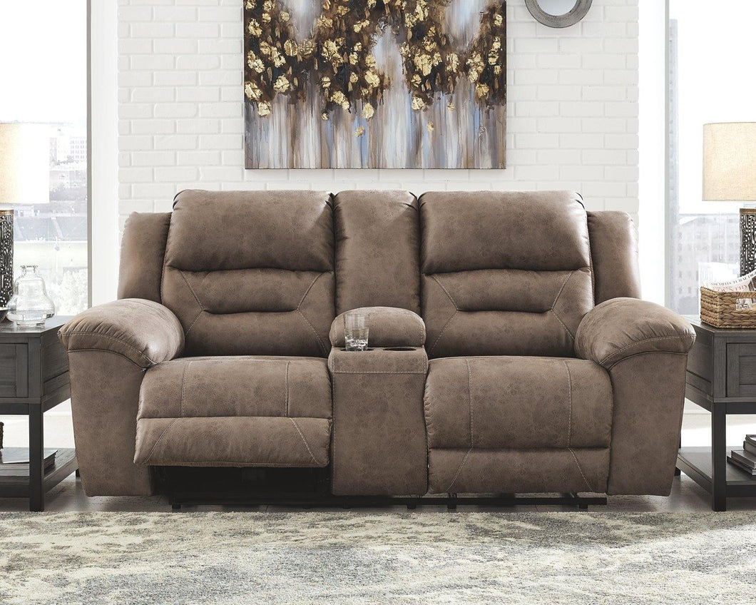 Stoneland Power Reclining Loveseat with Console 3990596 By Ashley Furniture from sofafair