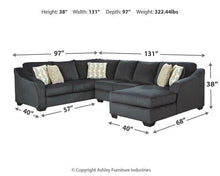 Load image into Gallery viewer, Eltmann 3Piece Sectional with Chaise 41303S6