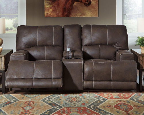 Kitching Power Reclining Loveseat 4160418 By Ashley Furniture from sofafair