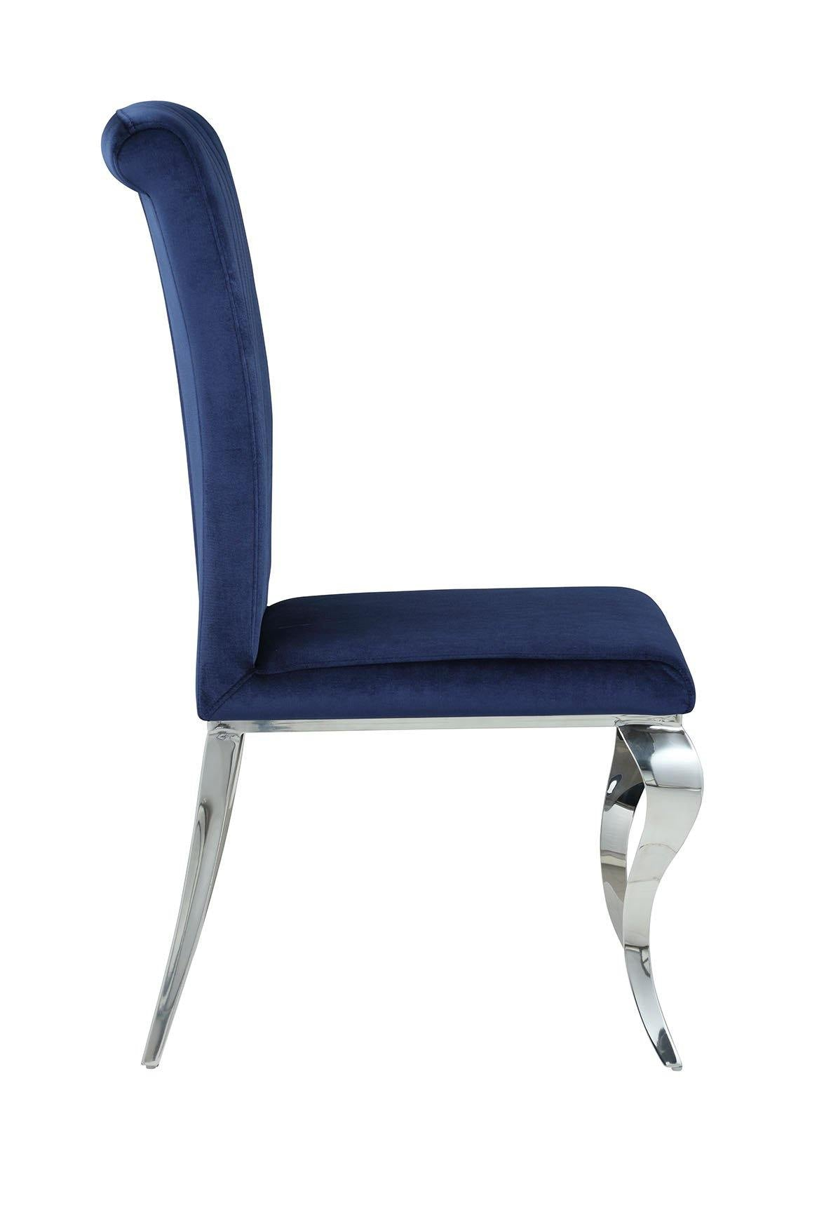 Dining chair 105077 Ink blue Hollywood Glam Dining Chair1 By coaster - sofafair.com