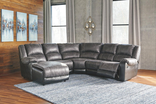 Nantahala 5Piece Reclining Sectional with Chaise 50301S1 By Ashley Furniture from sofafair