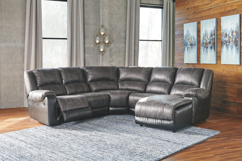 Nantahala 5Piece Reclining Sectional with Chaise 50301S3 By Ashley Furniture from sofafair