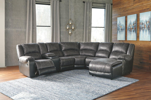 Nantahala 6Piece Reclining Sectional with Chaise 50301S4 By Ashley Furniture from sofafair