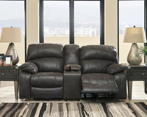 Dunwell Power Reclining Loveseat with Console 5160118 By Ashley Furniture from sofafair