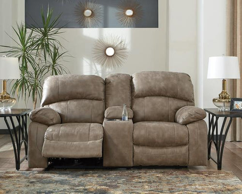 Dunwell Power Reclining Loveseat with Console 5160218 By Ashley Furniture from sofafair