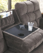 Load image into Gallery viewer, Acieona Reclining Sofa with Drop Down Table 5830089
