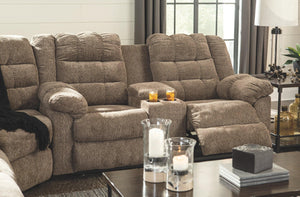 Workhorse Reclining Loveseat with Console 5840194