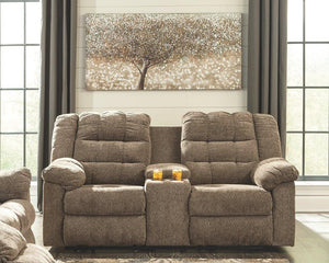 Workhorse Reclining Loveseat with Console 5840194 By Ashley Furniture from sofafair
