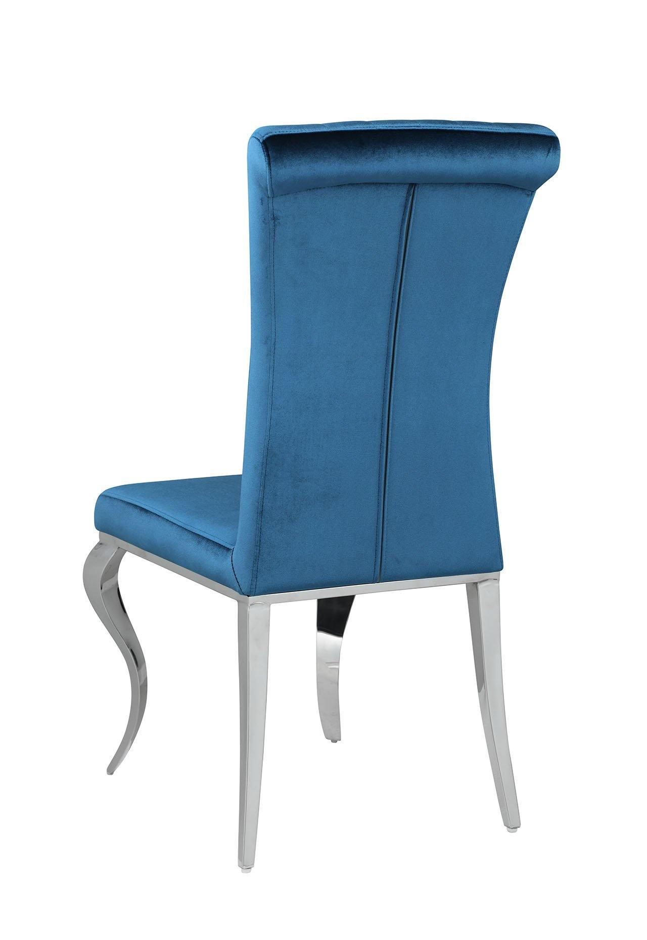 Dining chair 105076 Teal Dining Chair1 By coaster - sofafair.com