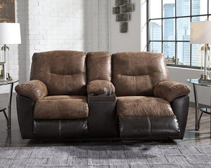 Follett Reclining Loveseat with Console 6520294 By Ashley Furniture from sofafair